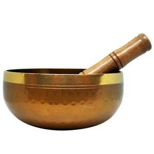 Singing Bowl Hammered Brass 16cm Meditation Yoga Prayer Spiritual Healing