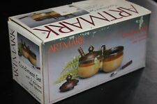 Artmark Condiment Set & 2 Stainless Steel Spoons Vintage 1987 In Original Box