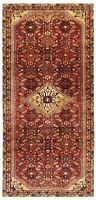 """Hand Knotted Rust Tribal Runner Wool Nomadic Hamedan Oriental Rug 4'2"""" x 9'10"""""""