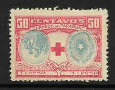 STAMPS-PARAGUAY. 1922 Chirife's Army Red Cross Inverted Centre. Kn: 1a. MH