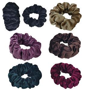 Velvet Scrunchies Elastic Hair Holder Double Bands Strong Hold Hair Scrunchies