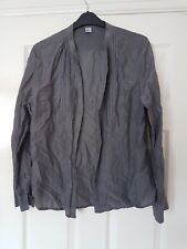 H&M ladies grey long sleeved v neck button front top size EUR44