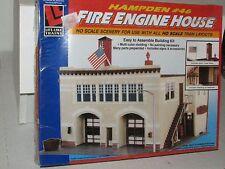 Life Like HO scale 1390 Hampden #46 Fire Engine House Kit