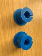 Olympic plate to 25mm adapter (pair) -TPU 3D printed. Blue or Black. 40mm Thick