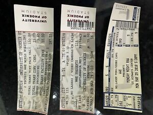 WWE WrestleMania 26 XXVI and Monday Night RAW March 29th 2010 Ticket Stubs