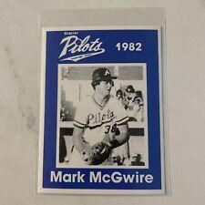 1982 Glacier Pilots Mark McGwire Rookie Card Minor League Anchorage Alaska RARE