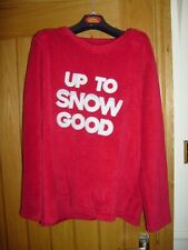 Up To Snow Good Christmas Sweater Jumper Sweatshirt Funny SIZE LARGE