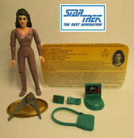 1992  Playmates Star Trek Next Generation Deanna Troi Loose & Complete Figure