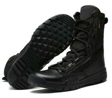 Mens Army faux Leather High Boots Combat Work desert Shoes Outdoor