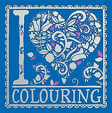 Adult Colouring Book I HEART COLOURING Stress Mindfulness Coloring In Travel