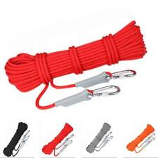 Survival Fire Escape Safety Rope Carabiner Climbing Rescue Rope w/ Hooks Lot New