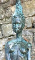 ONDINE NYMPH SOLID BRONZE LOST WAX SCULPTURE UNIQUE CONTEMPORARY ART No 22 / 90