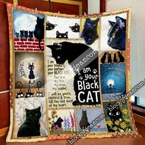 I Am Your Black Cat Quilt - Premium Quilt Blanket - Beautiful Quilt For Son
