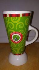 Preowned Tall Mug Cup Hershey Merry Kissmas No Mistletoe Required 12oz see pics