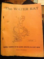 Vintage Sea Scout Monthly Magazine Publication The Water Rat May 1934 Original