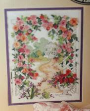 Vintage Bucilla Silk Ribbon Embroidery Kit/ NIP/# 33529/Rose Arbor/1995