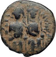 JUSTIN II &  Sophia 565AD Nicomedia Follis Genuine Ancient Byzantine Coin i67355