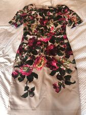 OASIS Hummingbird Floral Dress Wiggle Pencil Style Size 10 Excellent Condition
