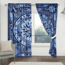 Door Curtains Window Mandala Drapes The Indian Cotton Cycle Valances Set