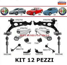 KIT BRACCI SOSPENSIONE OSCILLANTI ANTERIORE 12 PEZZI ALFA ROMEO 147 156 GT