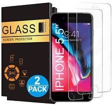 2x Echt Glas Panzerfolie für iPhone 6s 7 8 Plus Displayschutzfolie Schutzglas