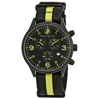 Brooklyn Watch Co. Bedford Brownstone Chronograph Black Dial Men's Watch