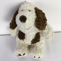 Marks & Spencer White / Cream and Brown Dog Puppy Soft Toy Height Approx 12 inch