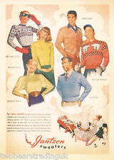 Postcard: Vintage Advertising Posters - Jantzen Sweaters (2014)