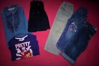LOT FILLE-JUPE-PANTACOURT OKAIDI-CHEMISE POPEYE-T SHIRT ANGRY BIRD-T 2/3 ANS