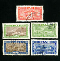 Iceland Stamps # 144-8 VF Used Scott Value $20.45