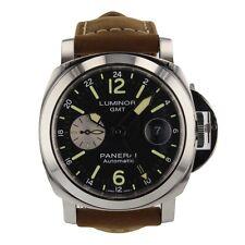 Panerai Luminor GMT Automatic Acciaio Steel 44 mm Watch PAM01088 PAM 1088