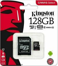 Kingston SDXC 128 GB Canvas Micro SD Memory Card 80MB/s UHS-1 Class 10 NEW