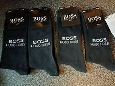 Hugo Boss Mens Socks NAVY  Cotton  4 Pairs per Pack UK Size 6 to 11 NEW