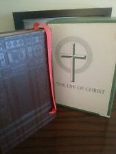 "RARE J. CRAWELY  ""LIFE OF CHRIST"" BOOK circa 1957 MINT CONDITION includes box"