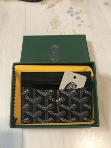 100% New Black Goyard Saint Sulpice Card Holder Wallet In-Hand SHIPS FAST