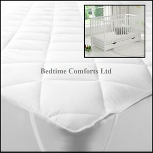 """COT / TRAVEL COT  """"QUILTED""""  Mattress TOPPER (Elasticated) VARIOUS LENGTHS"""