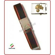Cintura Canapa Bicolor Con Placca In Rilievo Carabinieri Fiamma Oro Art.CIN-14