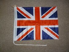Printed Double Sided Union Jack Flag Rope & Toggle Fixing 30x40cms