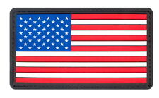 US Military Red White & Blue PVC USA US Rubber Hook American Flag Patch