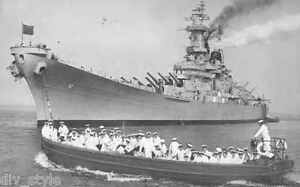 USS Missouri BB-63 postcard US Navy Battleship
