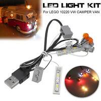 ONLY DIY USB Interface LED Light Lighting Kit For LEGO 10220 VW CAMPER VAN  e ~