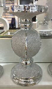 Silver Mirrored Table Stand Mosaic Romany Bling 60cm - Home Decor,Gift