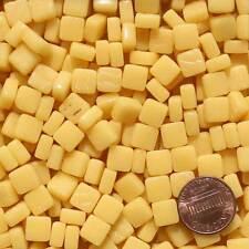 8mm Mosaic Glass Tiles - 2 Ounces About 87 Tiles - Butter Yellow