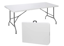 4' Portable Folding Table Plastic Indoor Outdoor Picnic Party Camp Dining White