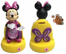 "Disney Minnie Mouse Figure Coin Bank - 10"" Molded Piggy Money Saving Bank"