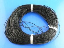 10 Meter echtes Lederband/Lederriemen/Lederschnur 1 mm schwarz DIY Basteln Leder