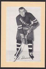 1945-1964 Beehive Group II 2 Hockey Ed Slowinski New York Rangers Single