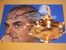 Signed Paul McGinley 2014 European Ryder Cup Golf Captain Gleneagles 12x8 Photo