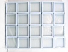 20 Pcs Of Top Glass Plastic Gemstone Jewelry Display Jar Box White Size 4x4 Cm
