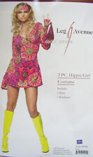 HIPPY PRINT Womens Fancy Dress Costume 1960's 1970's Medium/Large 12 - 14